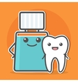 Mouthwash hugs tooth vector image