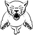panther tattoo tribal vector image vector image