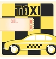 Taxi cab retro poster vector image