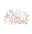 Autumn doodle hand-drawn page vector image