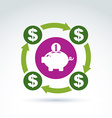 banking symbol financial system icon Personal vector image