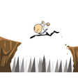 Business vaulting cliffs vector image