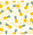 pineapple natural seamless pattern backgroun vector image