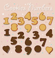 sweet cookies numbers vector image