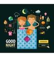 Good Night logo design template Dream vector image