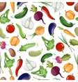 Seamless pattern background of vegetables vector image