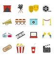 Cinema icons set flat style vector image