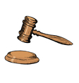 court gavel vector image