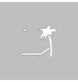 Deck chair computer symbol vector image