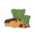 german shepherd dog breed vintage vector image