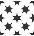 hexagram sheriff star badge icon seamless pattern vector image
