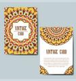 invitation card with mandala decorative ornament vector image
