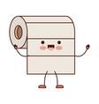 kawaii cartoon roll paper towel in colorful vector image