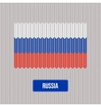 Knitting Russia flag Stylish background vector image