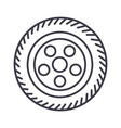 wheel car line icon sign on vector image