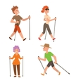 Nordic walking sport people vector image