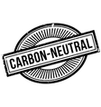 Carbon-neutral rubber stamp vector image