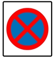 Clearway sign vector image