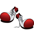 Boots for the clown vector image vector image