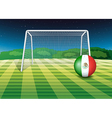 A ball with the flag of Mexico vector image vector image