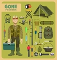 Gone fishing vector image