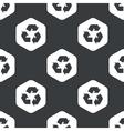 Black hexagon recycle pattern vector image