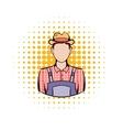Farmer comics icon vector image