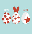 Happy easter cards with Easter bunnies and Easter vector image