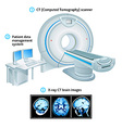 Computed Tomography scanner vector image