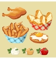 chicken products set vector image vector image