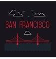 San Francisco Golden Gate Bridge San Francisco vector image