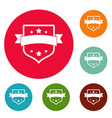 badge vintage icons circle set vector image