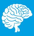 brain icon white vector image