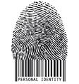 fingerprint with bar code vector image