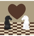 forbidden taboo no romance two horse chess fall in vector image
