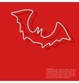 Halloween red background vector image