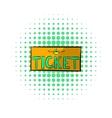Plane tickets icon comics style vector image