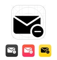 Remove mail icon vector image