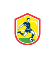 Soccer Player Kicking Ball Retro vector image