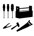 Tools set silhouettes vector image