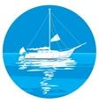 White sailing ship yachts vector image