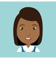 girl student uniform icon vector image