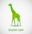 green triangulate giraffe vector image vector image