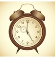 icon of antique bronze alarm clock vector image