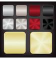 metallic app icons vector image