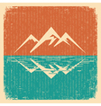 Vintage Nature landscape with mountains vector image vector image