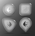 Fish Glass buttons vector image