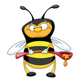 bee with a spoon vector image vector image