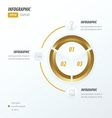 Circle infographic 2 color Golden color vector image