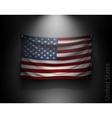 waving flag United States on a dark wall vector image